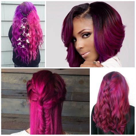 ideas  trendy magenta hair color hairstyles  women