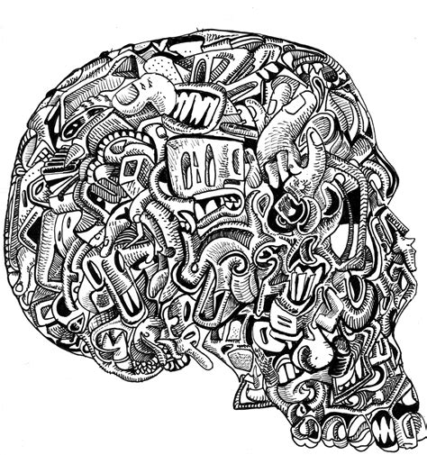Detailed Coloring Pages For Adults Skull499080