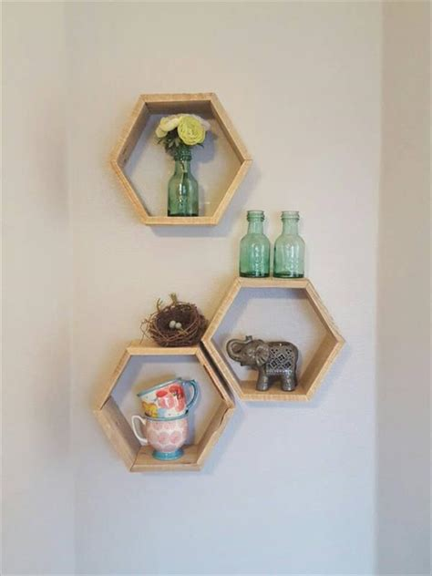 creative hexagon pallet shelves pallet furniture plans
