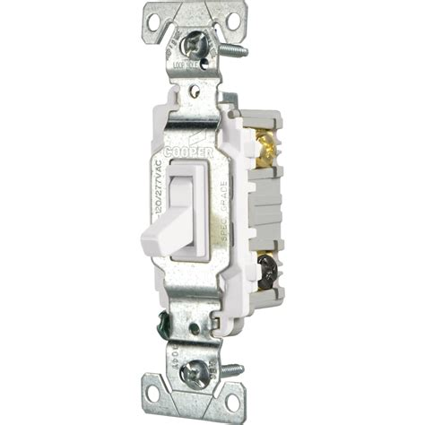 Shop Cooper Wiring Devices Amp White Way Light Switch