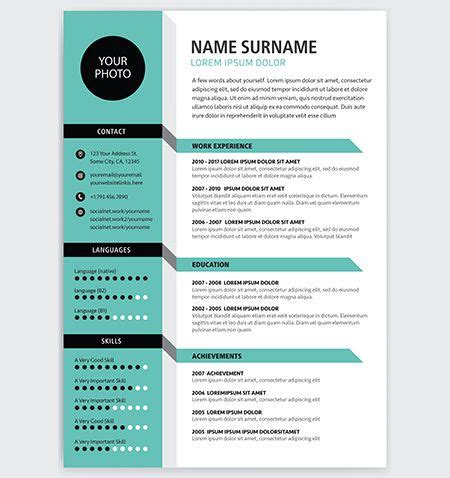 creative resume background creative cv resume template teal green background color