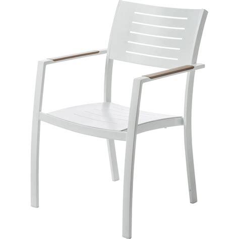 chaise aluminium exterieur fauteuil de jardin en aluminium port nelson blanc leroy