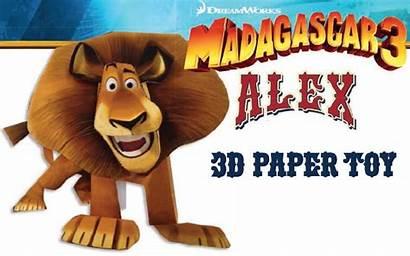 Madagascar Papercraft Alex Dreamworks Wanted Europe Paper