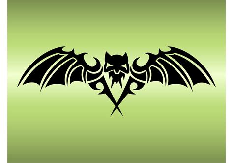 bat tattoo design   vector art stock