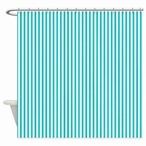 thin dark turquoise stripes shower curtain by With dark turquoise curtains