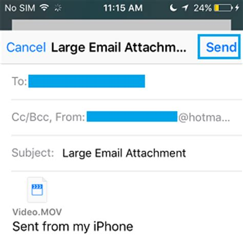 how to send large from iphone how to email large files on iphone using mail drop