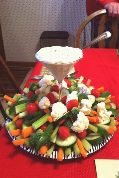 Tray Appetizers Trays Veggie Vegetable Thanksgiving Display
