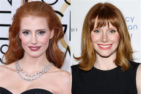 actress like jessica chastain 30 celebrities who look like other celebrities