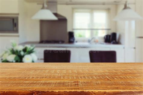 kitchen table background free hd interior background with empty kitchen table stock image