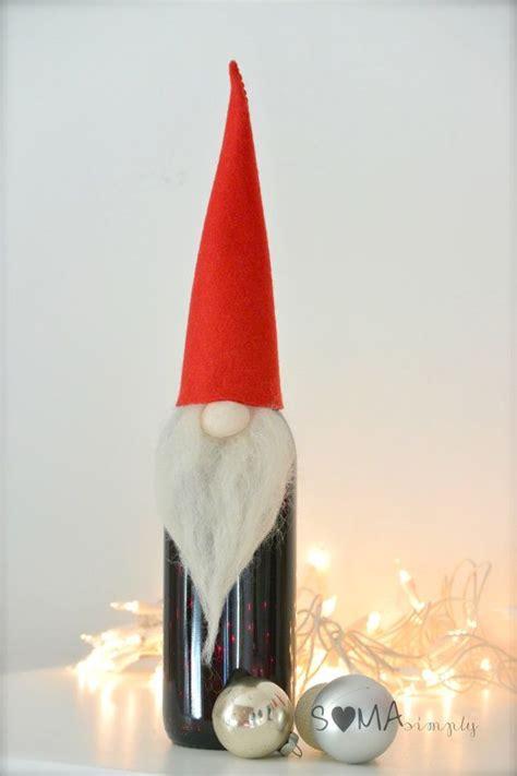 scandinavian gnome tomten santa wine bottle topper