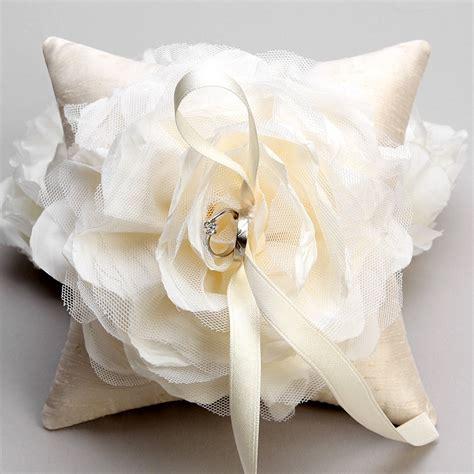ivory flower ring pillow rustic wedding pillow bridal ring