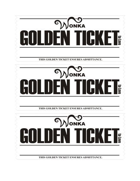 golden ticket love coupons template