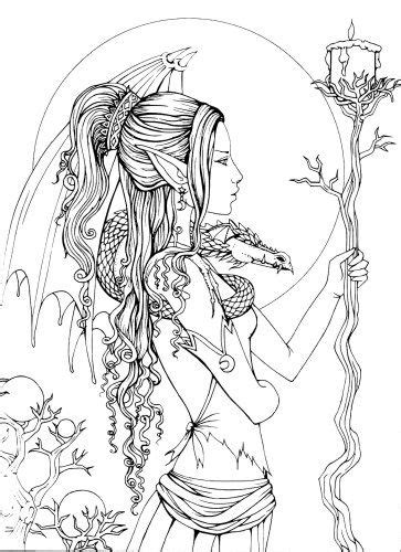 mystical  fantasy coloring book colouring pinterest coloring books books  adult