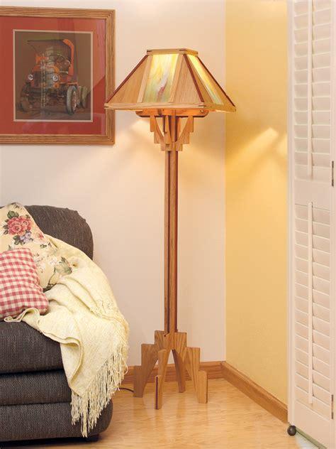 wood wooden floor lamp plans  plans