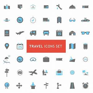 Travel icons collection Vector | Free Download