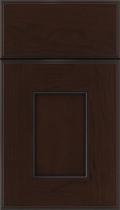 cappuccino black glaze cabinet finish  cherry kitchen craft