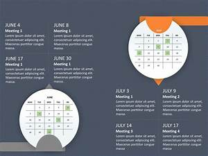 Calendar Powerpoint Template To Show Key Milestones And