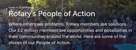rotarys people  action rotary district