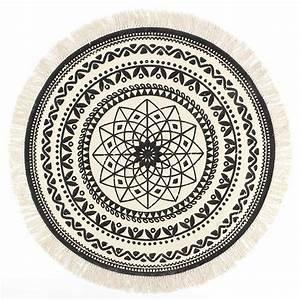 Teppich Rund 120 Cm Durchmesser : teppich vintage mandala muster 120 cm schwarz beige 100 baumwolle ebay ~ Bigdaddyawards.com Haus und Dekorationen