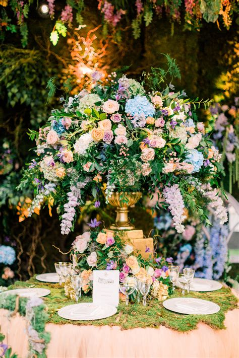 enchanted garden wedding theme floral inspiration with