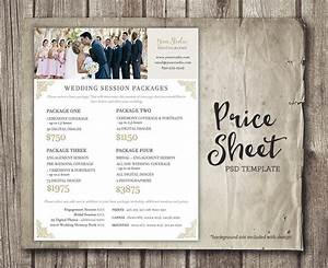 wedding photography price sheet price list template With wedding photography package names