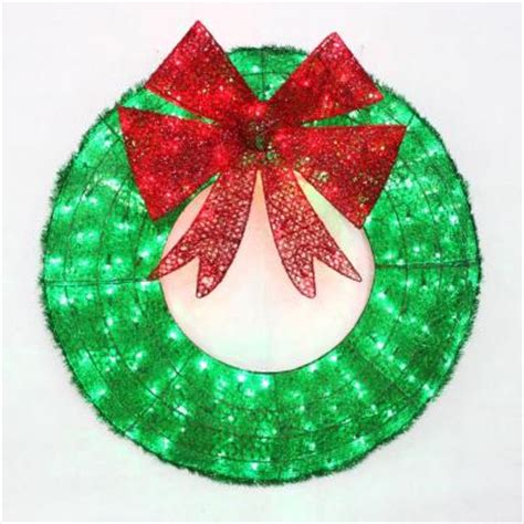 home accents holiday 36 in led green sparkling tinsel