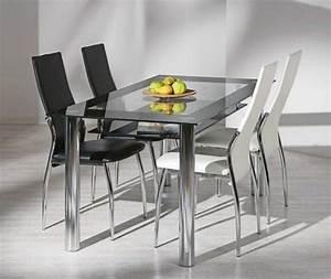 Table à Manger En Verre : table a manger en verre ~ Teatrodelosmanantiales.com Idées de Décoration