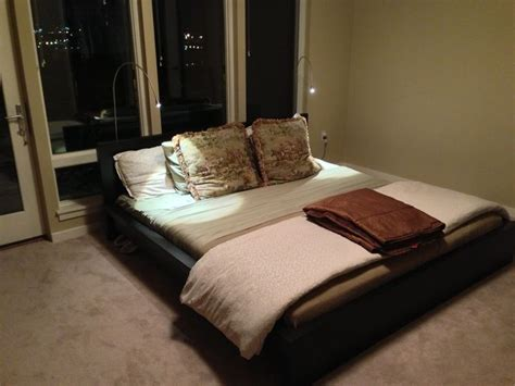 Low Profile King Size Ikea Malm Blackbrown Pedestal Bed