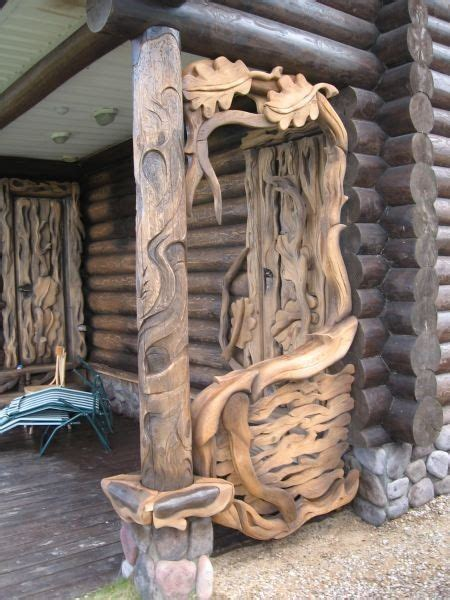 great   cap   porch wood wood carving wood