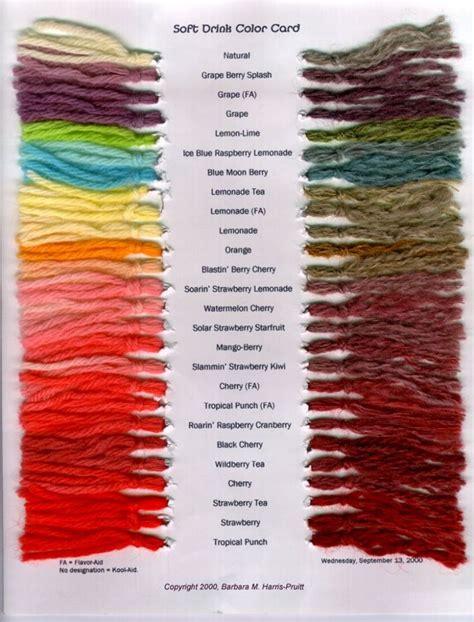 tie dye  kool aid    great chart showing