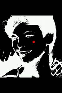 Stare at the red dot for 30 seconds look at a white wall ...