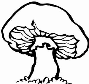 Black And White Mushroom Clipart - Clipart Suggest