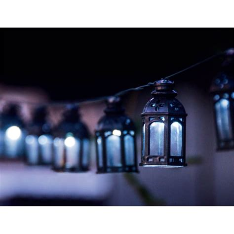 light solar string 20 led solar moroccan lantern