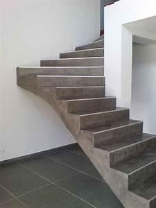 realisation d39un escalier en beton cire nos applications With beton cire pour escalier exterieur
