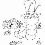 Coloring Inchworm Smart Printable Pages Freeprintablecoloringpages Insects Map Getcolorings sketch template