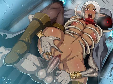 Rule 34 Areolae Breast Grab Breasts Censored Dark Elf