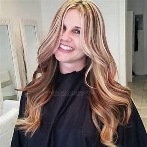 Dunkelblonde Haare Mit Blonden Strähnen : verschiedene haarfarben mit rote str hnchen ~ Frokenaadalensverden.com Haus und Dekorationen
