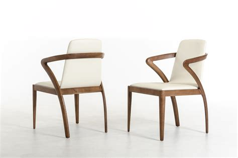 Modern Dining Room Chairs by Modrest Falcon Modern Walnut And Dining Chair