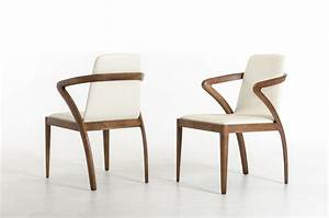 Modrest, Falcon, Modern, Walnut, And, Cream, Dining, Chair, -, Dining, Chairs