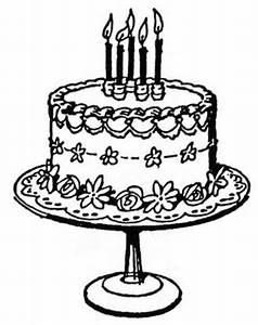 Vintage Birthday Cake Clipart