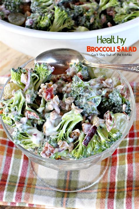 healthy broccoli salad  stay    kitchen