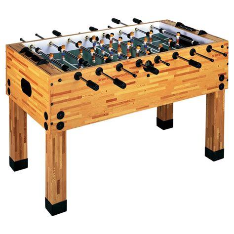 Garlando Butcher Block Foosball Table - GameTablesOnline.com