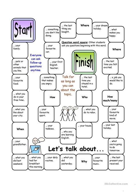 board let s talk about elementary worksheet