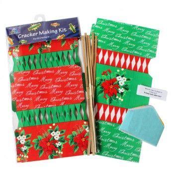 christmas cracker kits poinsettia pack of 6