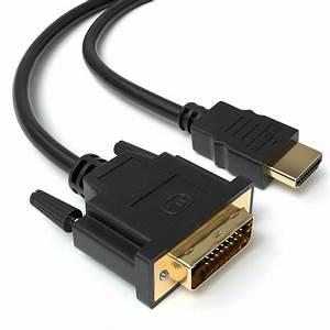 Gutes Hdmi Kabel : 5m hdmi auf dvi highend kabel full hd 1080p meter pc zu ~ A.2002-acura-tl-radio.info Haus und Dekorationen
