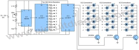 Bright Battery Operated Lights by Simple Led Chaser Circuit Simple Wiring Diagram Free