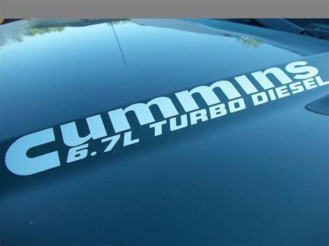 turbo diesel hood engine decals dodge ram