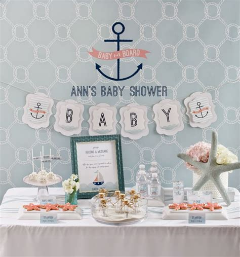 baby on board nautical baby shower play plan