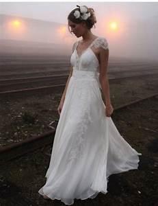 2016 vintage chiffon lace wedding dresses sleeve romantic With romantic vintage wedding dresses