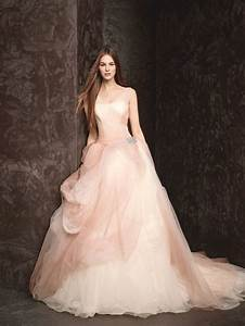 pink the new white a pretty ombre tulle ball gown by With vera wang blush wedding dress